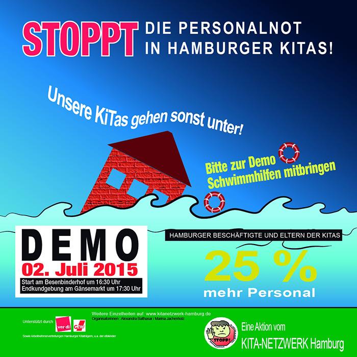 Handzettel-Demo